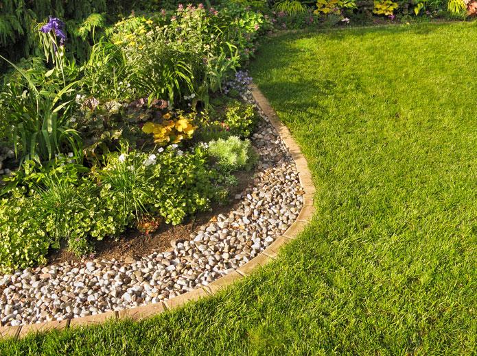 Landscape Rock Bed
